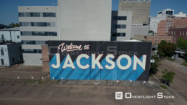 Welcome to Jackson Sign. Jackson Mississipi USA Drone View