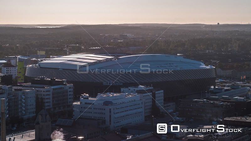 Drone Video Tele2 Arena Stockholm Sweden