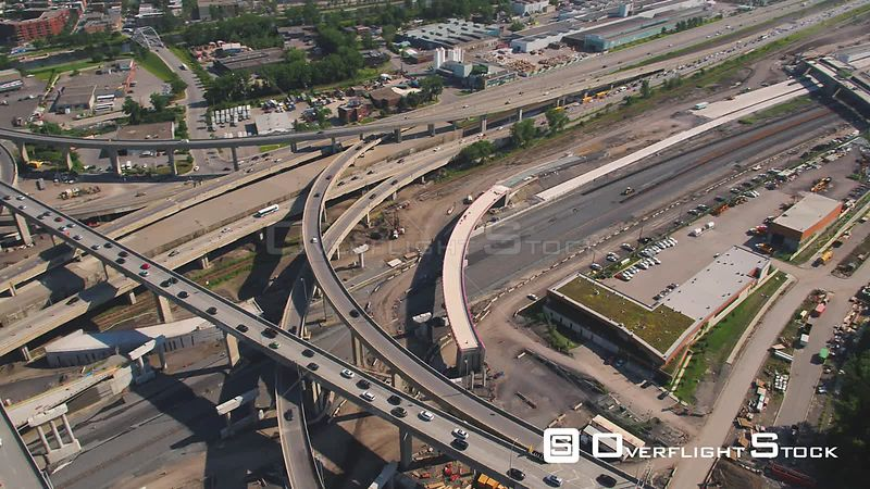 Highway Interchange Montreal Quebec Canada