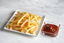 Chips in square plate diagonally