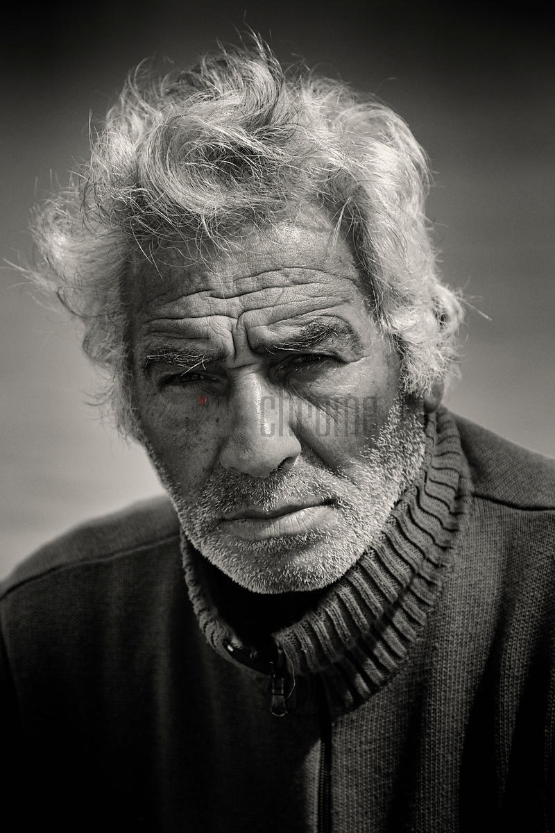 Portrait of a Pugliese Fisherman at the Fishing Port of Trani