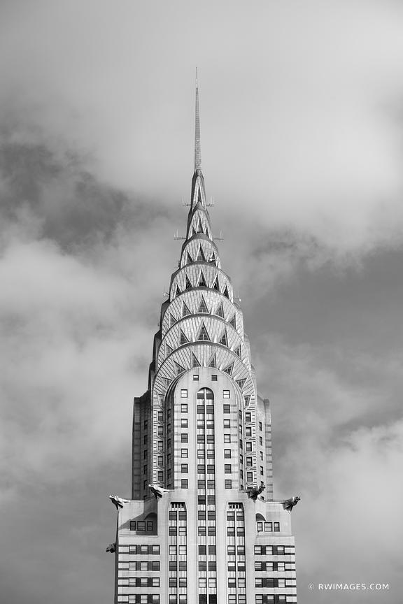 CHRYSLER BUILDING MANHATTAN ARCHITECTURE NEW YORK CITY NEW YORK BLACK AND WHITE
