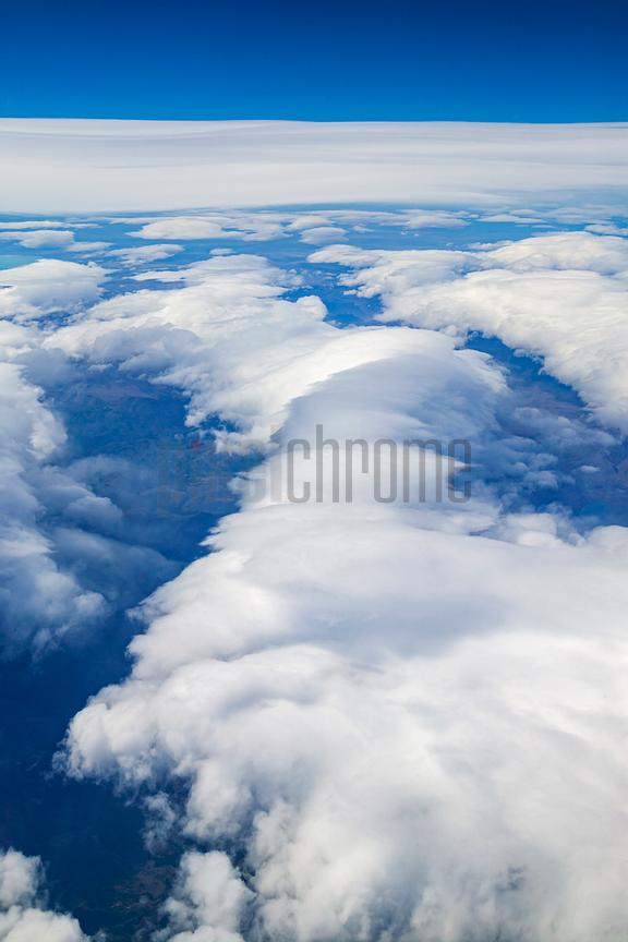 Aerial View of Clouds over Southern Chile