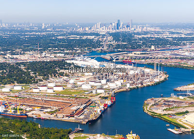 Port of Houston industrial complex and Houston ship channel