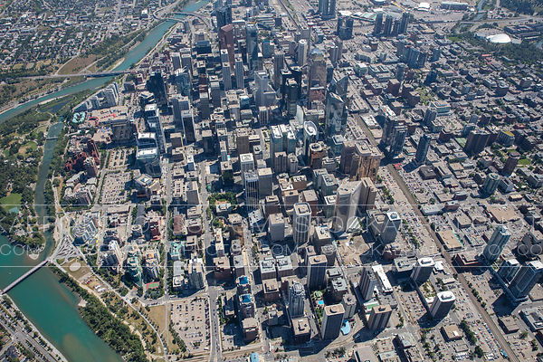 Downtown Calgary Overhead View