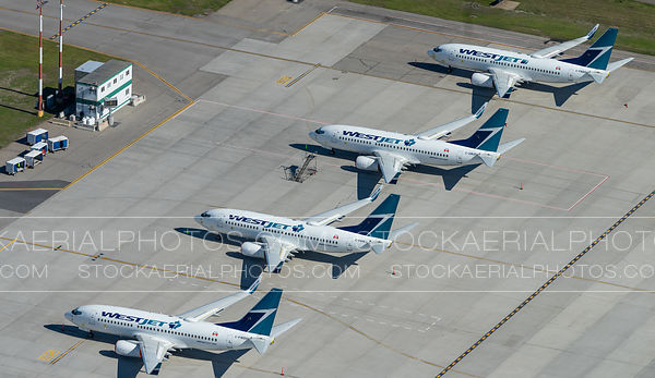 Westjet 737's Parked Due to Pandemic