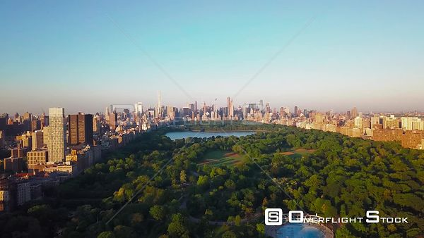 Central Park Manhattan New York City Drone View