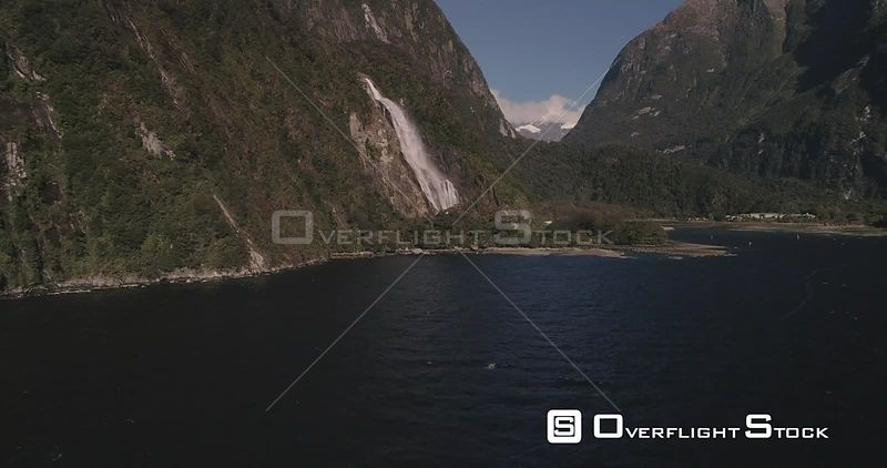 Fiordland National Park New Zealand Milford Sound Waterfall