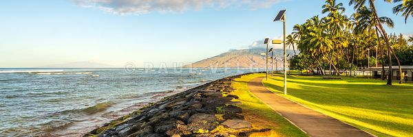 Maui Kalama Park Kihei Hawaii Panorama Photo