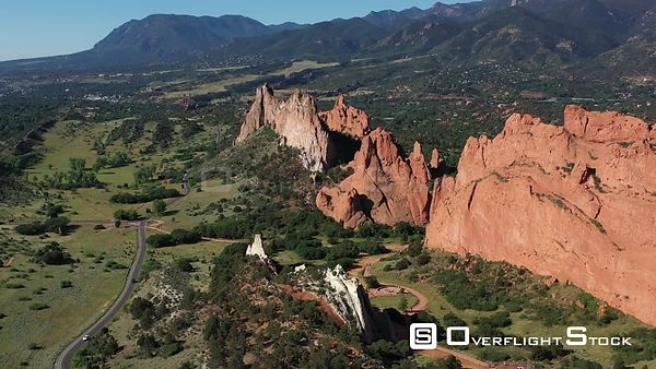 Gray Rock or Cathedral Rock and other rock formations, Colorado Springs, Colorado, USA