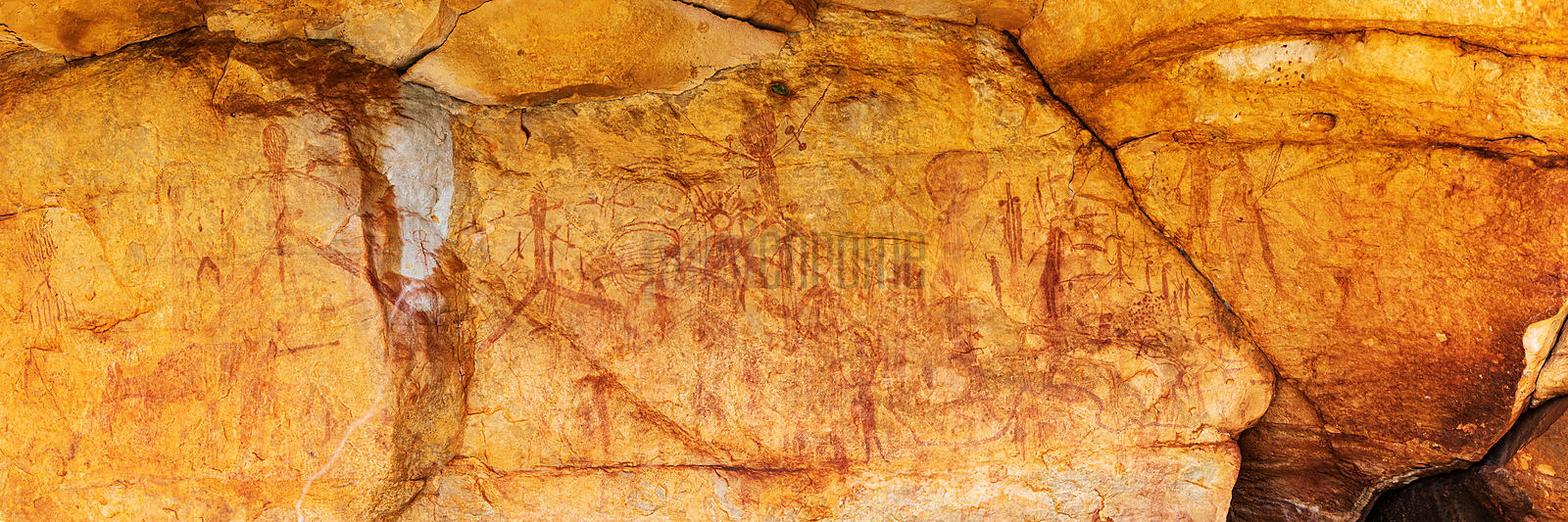 Rock Art Endemic to the Kimberley called Gwion Gwion or Bradshaw Art
