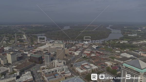 Montgomery Alabama pull out reveal shot of downtown the capitol building gun island chute and dexter avenue  DJI Inspire 2, X...