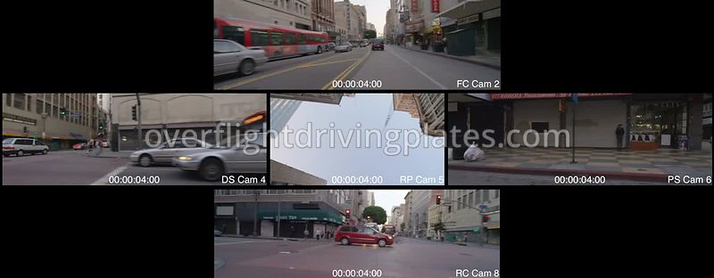 Broadway Street Sunset  Los Angeles California USA - Driving Plate Preview 2012