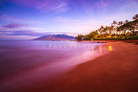 Maui Hawaii Sunrise Ulua Beach Wailea Makena Photo