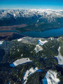 Pitt Lake and Logging Patches