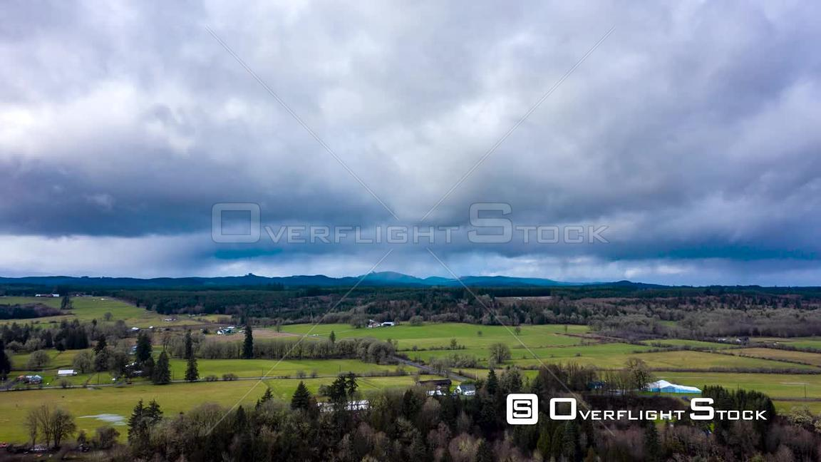 Clouds and Rain Over Farmland Timelpase