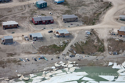 Village of Igloolik Baffin Region of Nunavut. Arctic Canada