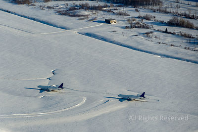 Abbandoned Jets at Mirabel Airport Quebec Canada
