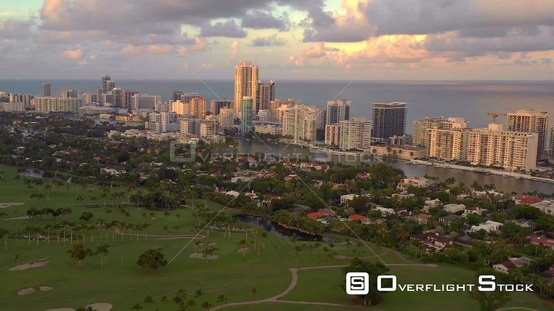 Drone Miami Beach stock footage 4k 2019