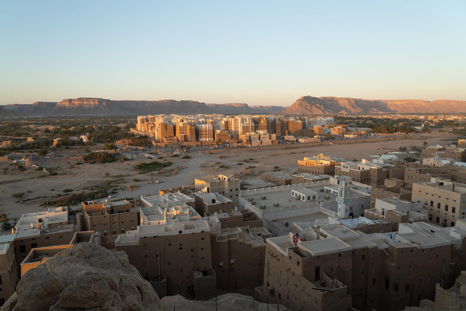 Sunset over Shibam at an Overlook
