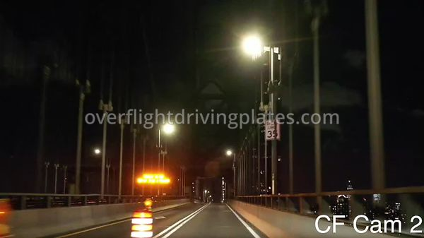 Covid-19 Empty Streets Manhatten Bridge Manhattan New York New York USA - Center Front View Driving Plate Cam2 Apr 2, 2020
