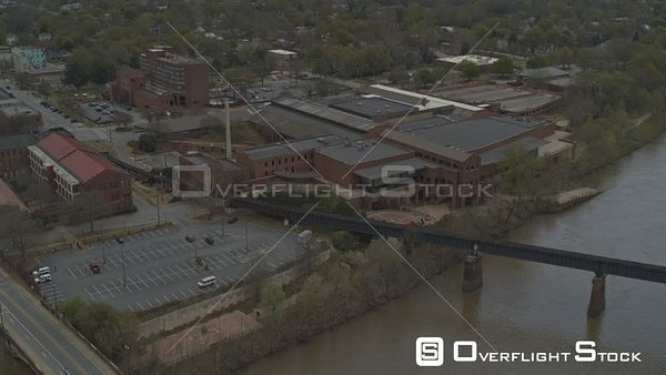 Georgia Columbus Birdseye River Downtown Cityscape Phenix City