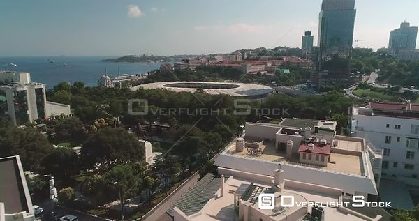 Aerial View of Besiktas Football Stadium Vodafone Arena Istanbul Turkey