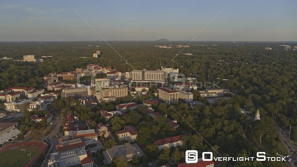 Atlanta Panoramic sunset view of Druid Hills district and Buckhead from overtop Emory University Campus