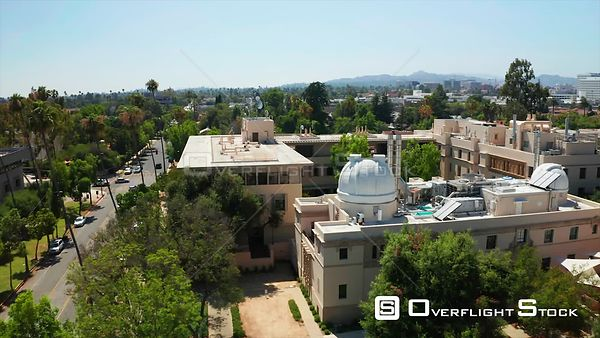 Drone Video Pasadena California CalTech Observatory