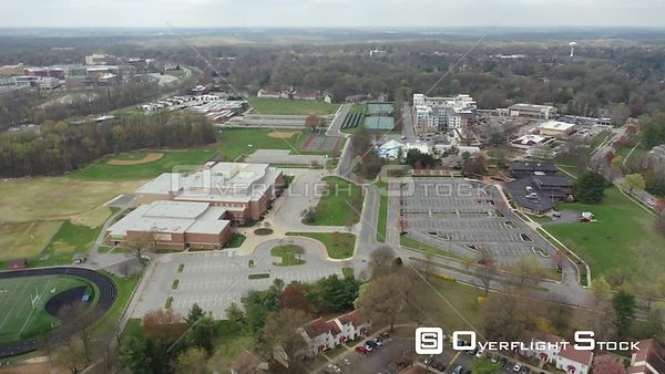 Drone Video Wilde Lake Middle School Columbia Maryland During COVID-19 Pandemic