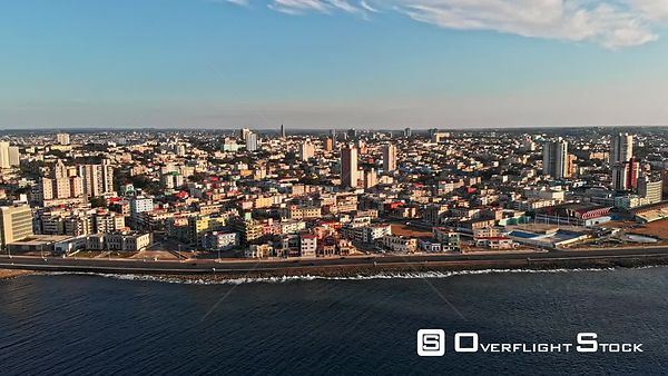 Cuba Havana Panoramic cityscape from monument to embassy views