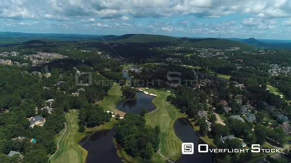 Golf Course Arkansas Drone Aerial View