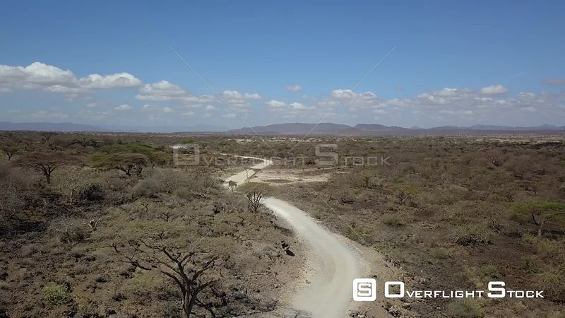 Dirt Road Through Shaba National Reserve Kenya Africa