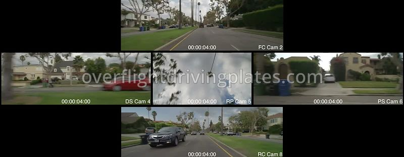 Hollywood Residential  Los Angeles California USA - Driving Plate Preview 2012