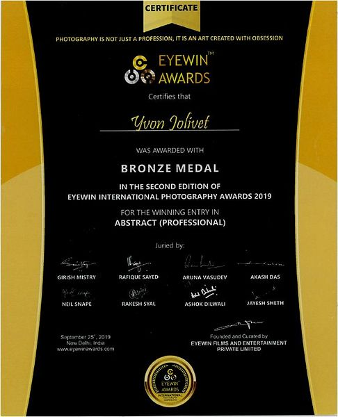 EyeWiin Awards - Bronze medal
