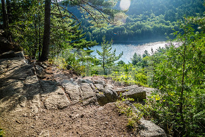 The Beech Cliff Trail in Acadia National Park, Maine