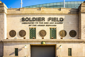 Chicago Bears Soldier Field Sign Photo
