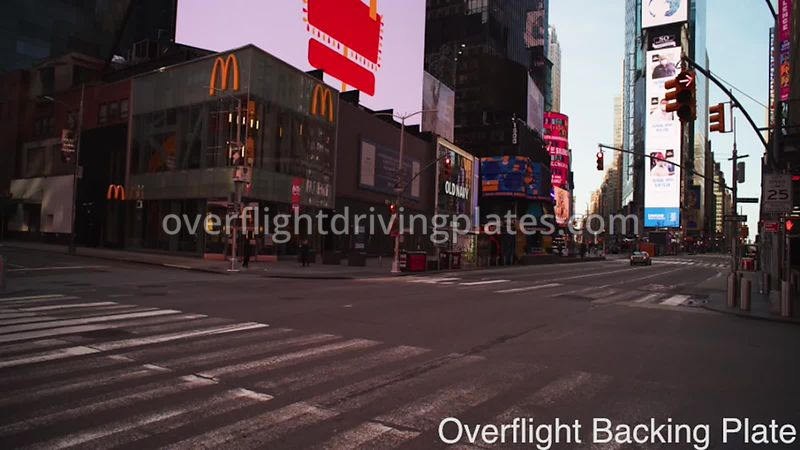 W 45th and Broadway Deserted Streets During Covid-19 Pandemic 8k Times Square Manhattan NYC New York USA - BackingPlate Apr 2...