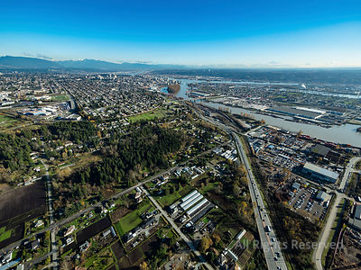 Marine Way looking to New Westminster