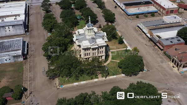 County Courthouse Rooftop and Town Square, Downtown, Cameron, Texas, USA