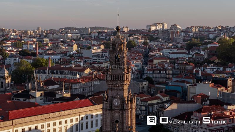 Drone Video Cityscape of Porto Portugal