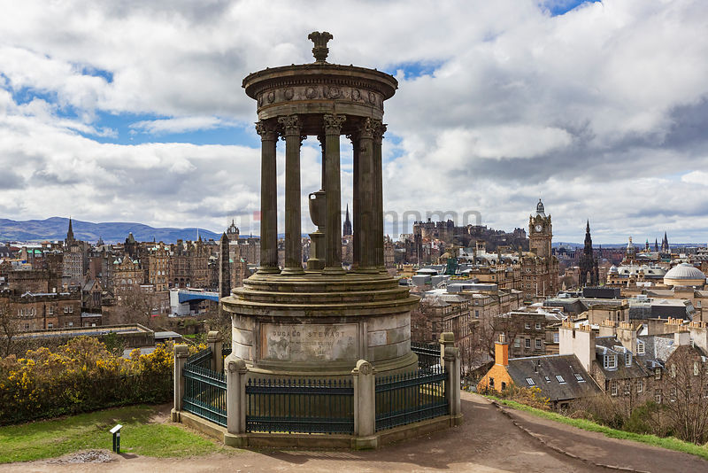 Skyline View of the City of Edinburgh from Calton Hill