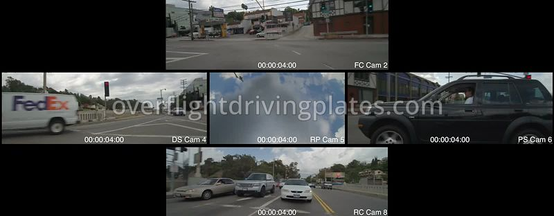 Cahuenga Boulevard  Los Angeles California USA - Driving Plate Preview 2012