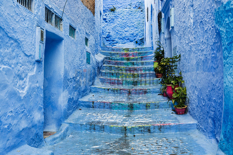 Painted Steps in Chefchaouen