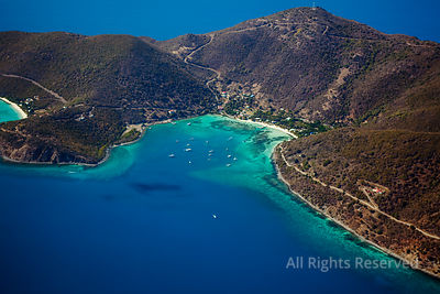 Jost Van Dyke and Little Harbor Bay in the background little Jost Van Dyke. British Virgin Islands Caribbean