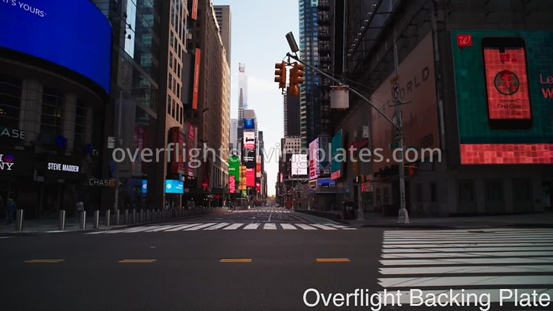 42nd and 7th Deserted Streets During Covid-19 Pandemic 8k Times Square Manhattan NYC New York USA - BackingPlate Apr 26, 2020