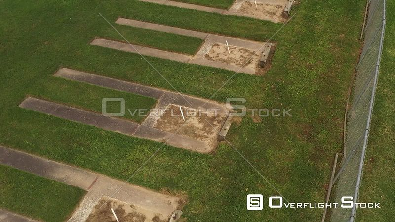Stakes and Sandboxes in an Empty Horseshoe Court due to Corona Virus, Bryan, Texas, USA