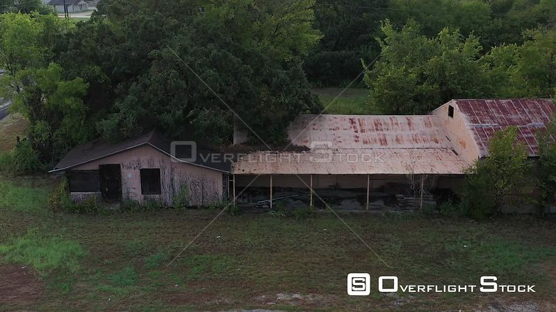 Closed for Business, Decaying Metal Building, Bryan, Texas, USA
