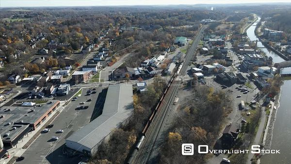 Autumn in Fairport Upstate New York Drone View