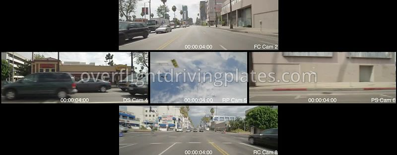 Hollywood Sunset Boulevard  Los Angeles California USA - Driving Plate Preview 2012